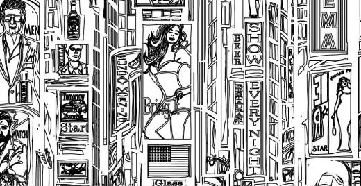 Défis coloriage de mai, Times square New-York