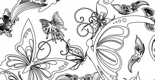 Coloriage gratuit, papillons printaniers 11 mai