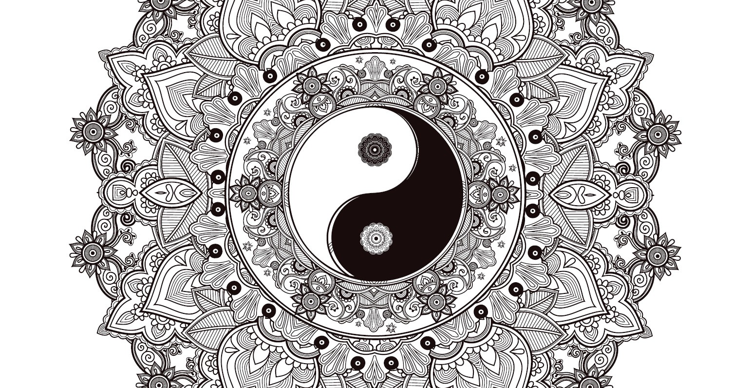artherapie coloriage gratuit freedesignfile yingyang - Dessin De Mandala