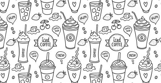 Coloriage gratuit, café glacé offert!