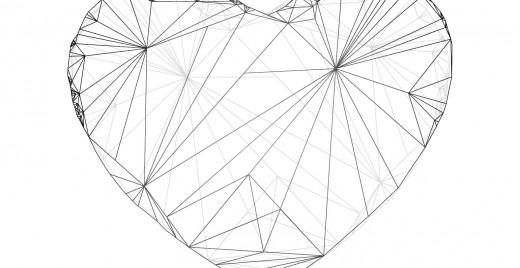 Coloriage gratuit, coeur géométrie