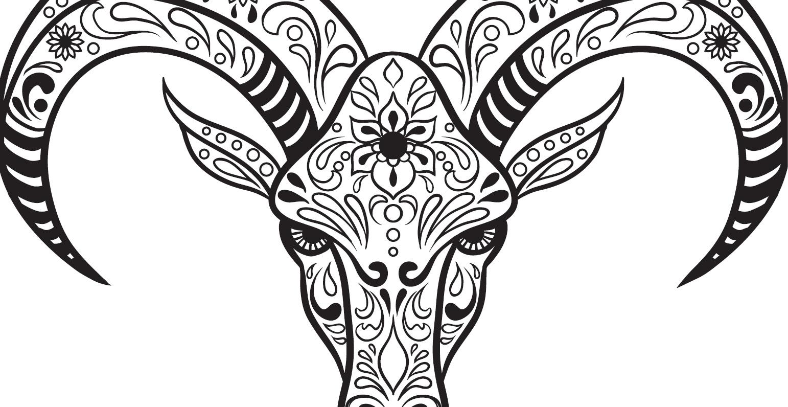 coloriage gratuit crane de chevre 15 mai