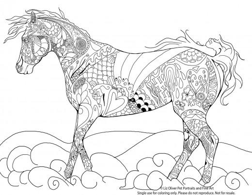 L Olivier-coloriage-gratuit-cheval