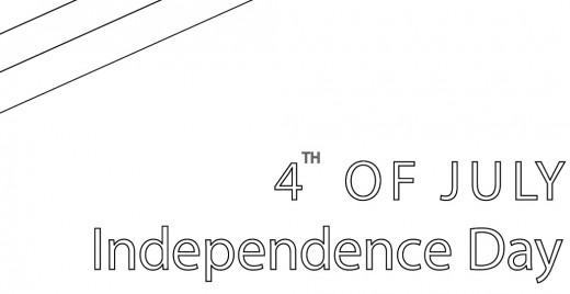 Coloriage gratuit, independence day 4 juillet