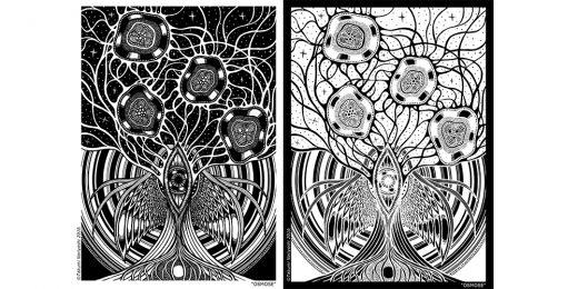 Coloriage gratuit par Takumi Nariyoshi, Osmose