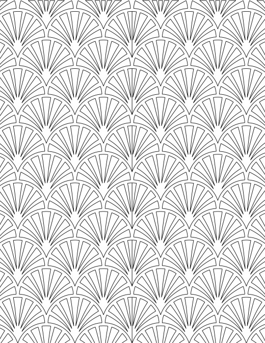 Coloriage gratuit, motif coquillage
