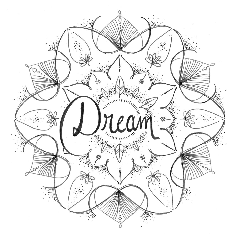 Coloriage gratuit par Chocobo, mandala rêve