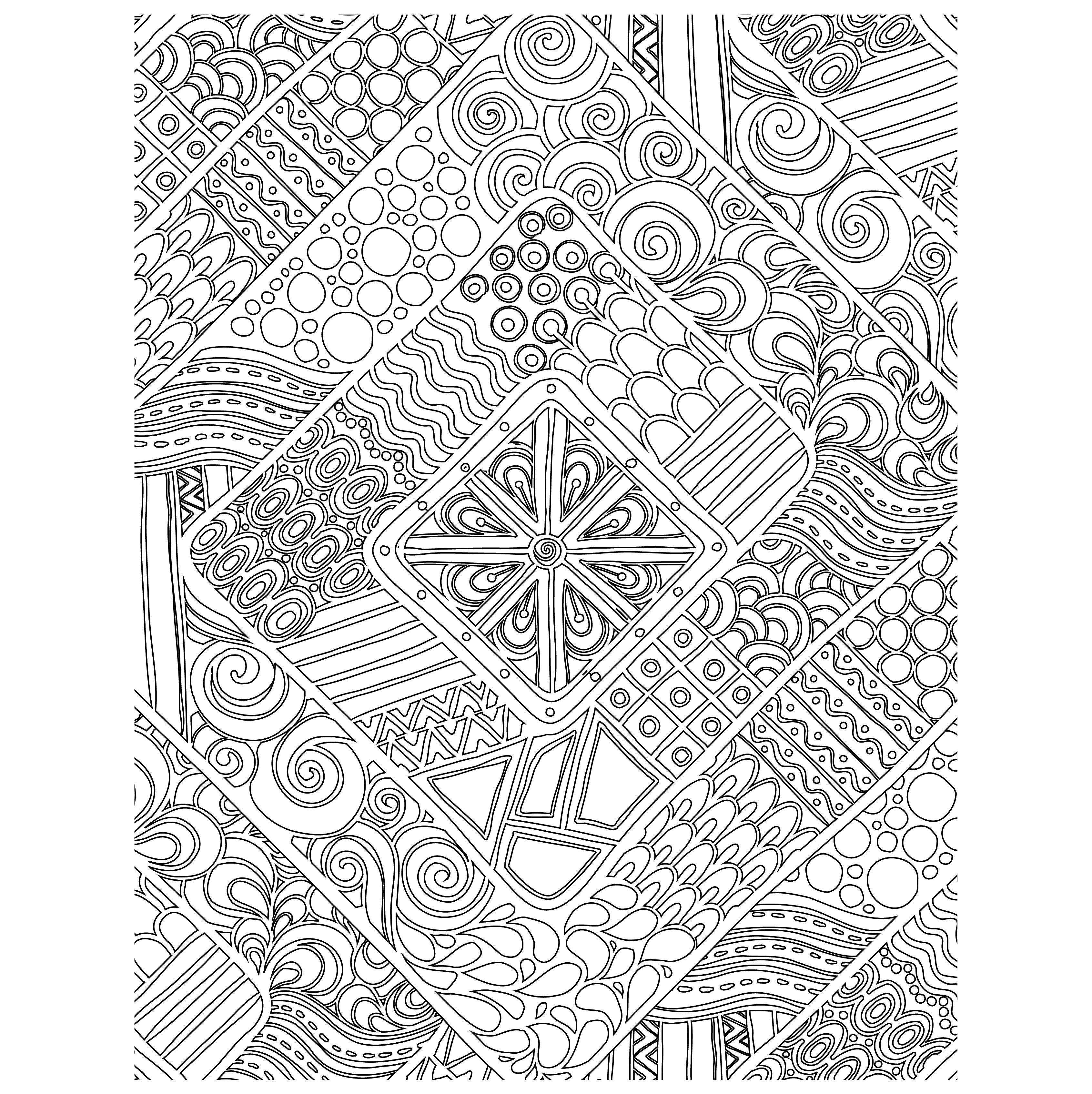 Coloriage gratuit doodle g om trique - Dessin geometrique a colorier ...