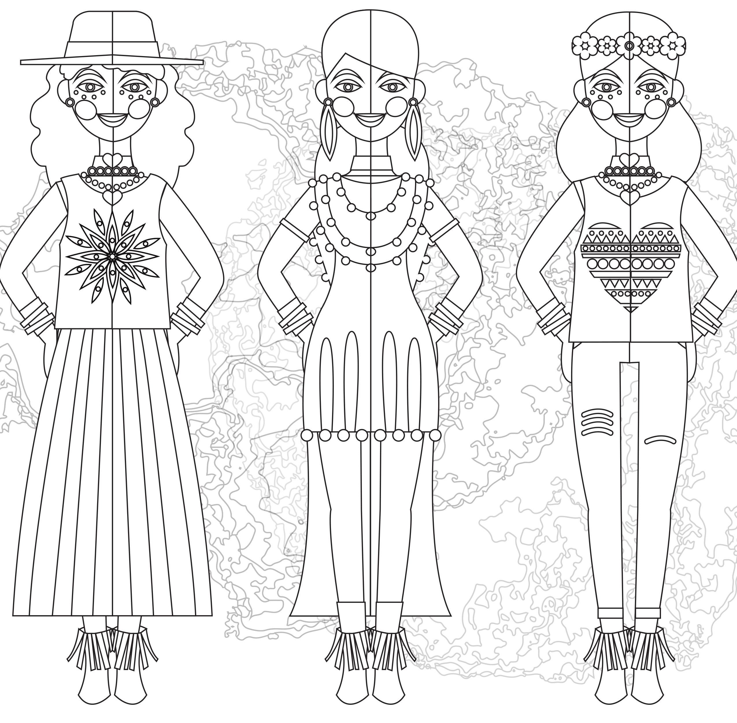 Journée internationale de la mode coloriage