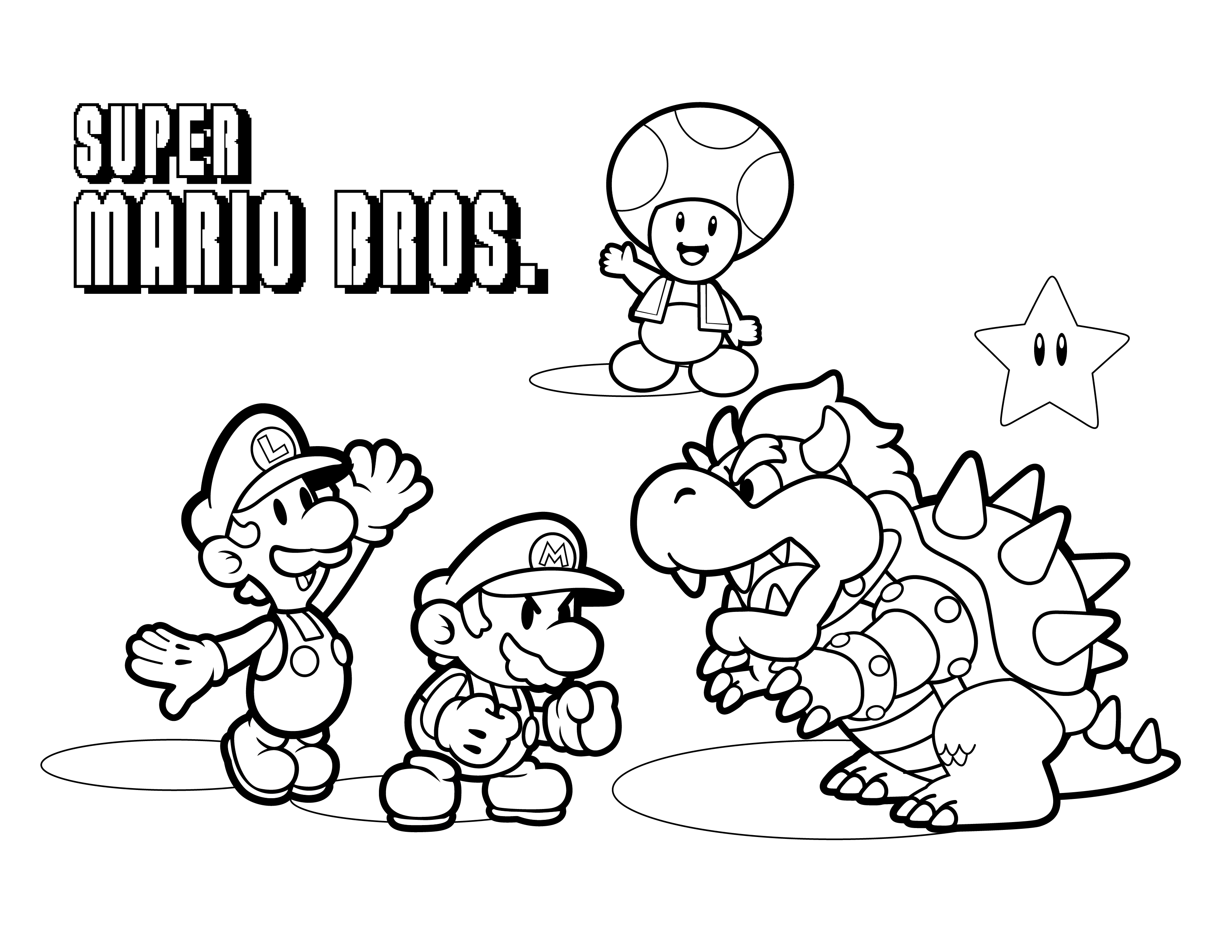 Unique Dessin A Colorier Gratuit Mario