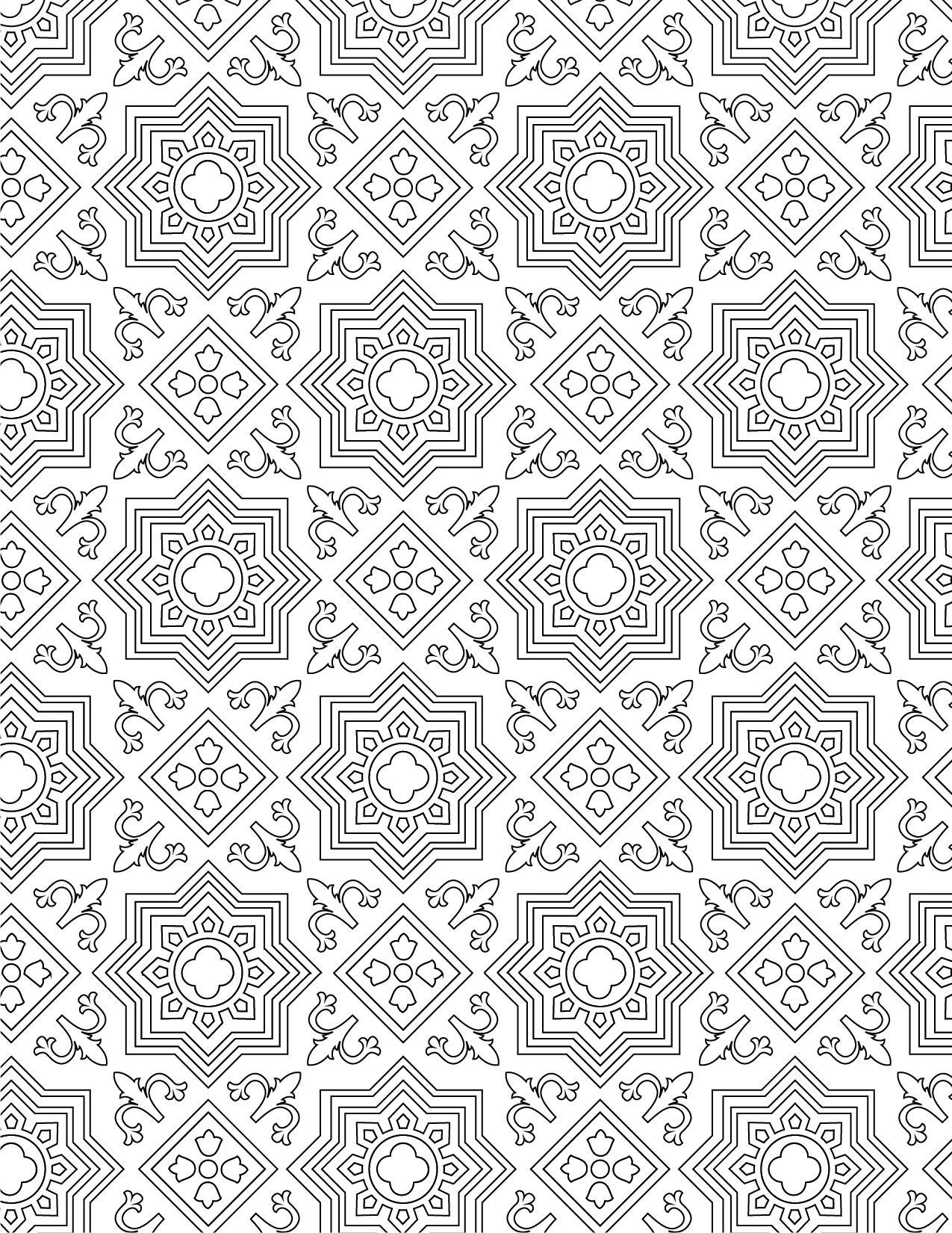 Imprimer coloriage gratuit motif mosaique - Dessine gratuit ...