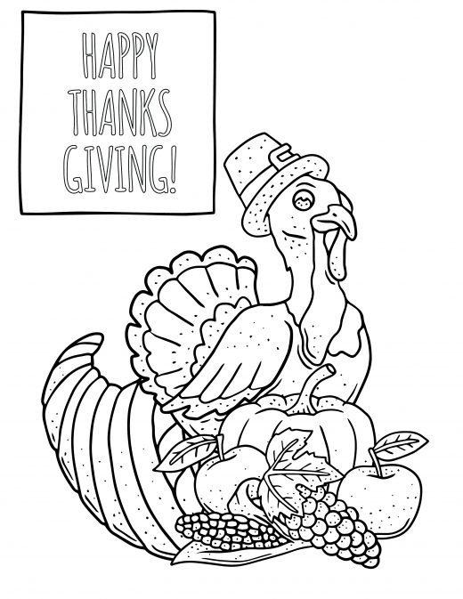 Coloriage de thanksgiving Action de grâce