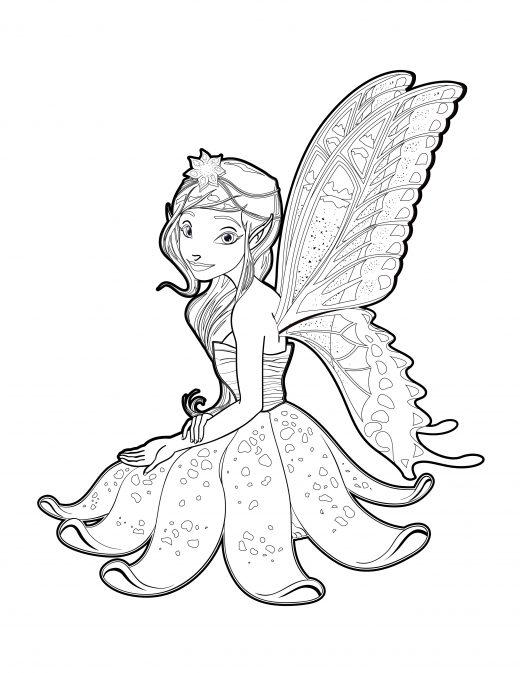 imprimer coloriage pour adulte fée clochette
