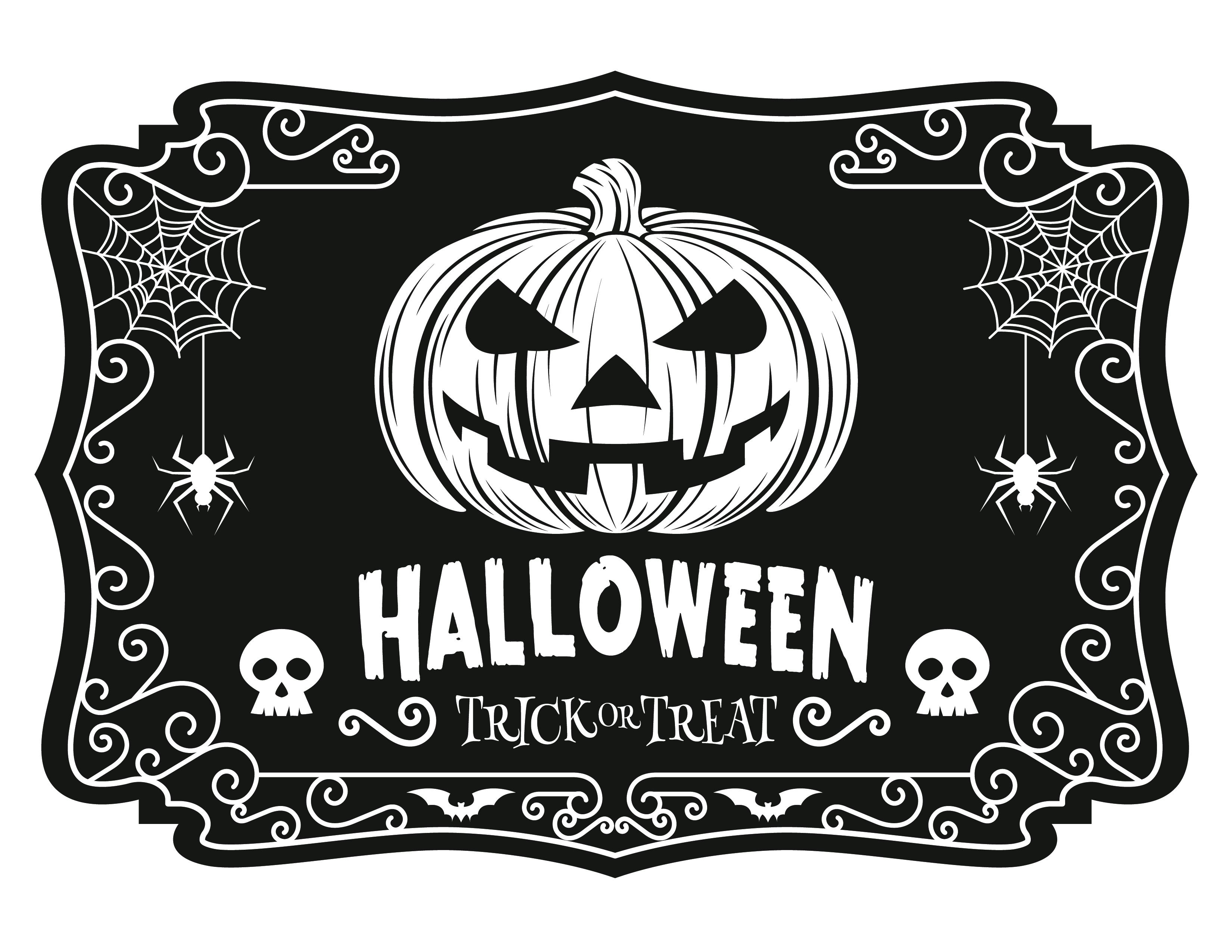 dessin à imprimer Halloween trick or treat - Artherapie.ca