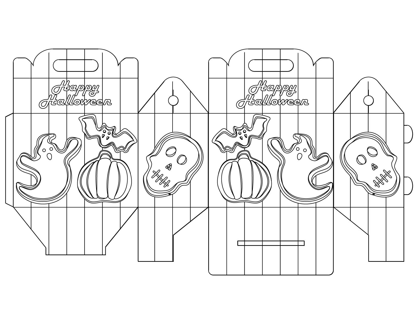 Boites à colorier gratuit Halloween party