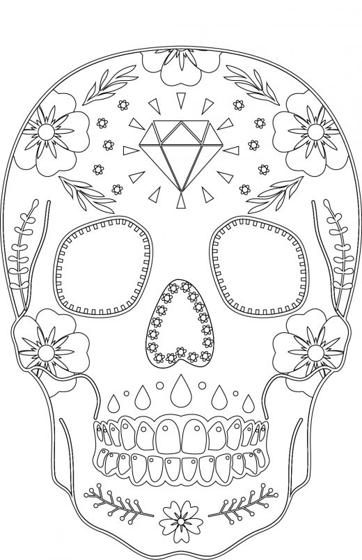 Coloriages gratuits skull candy