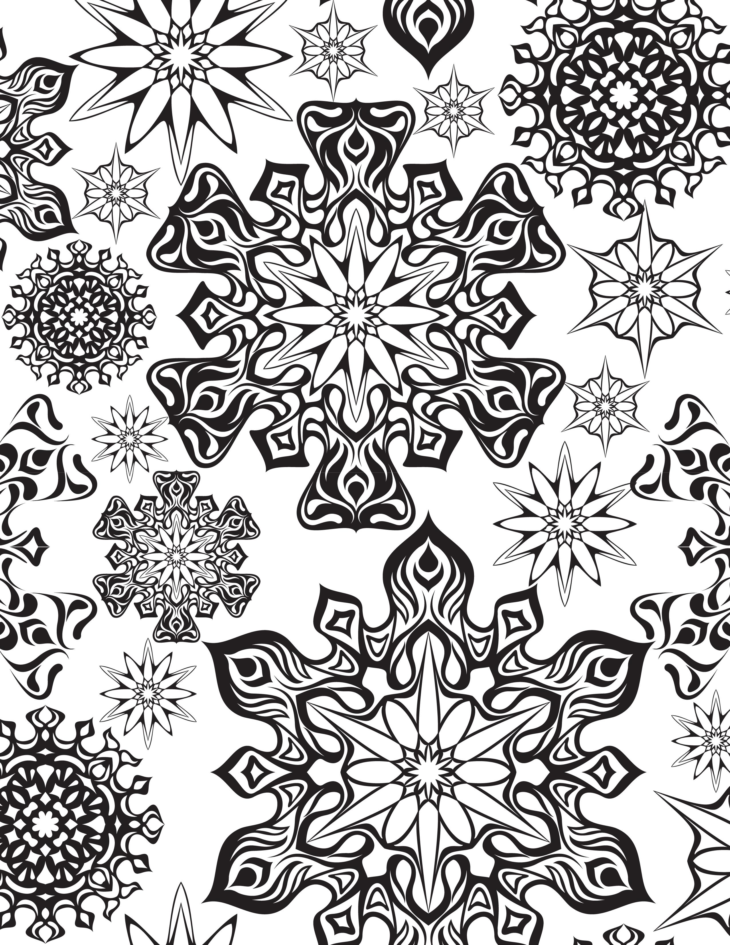 Inspiration coloriage mandala flocon de neige - Coloriage de neige ...