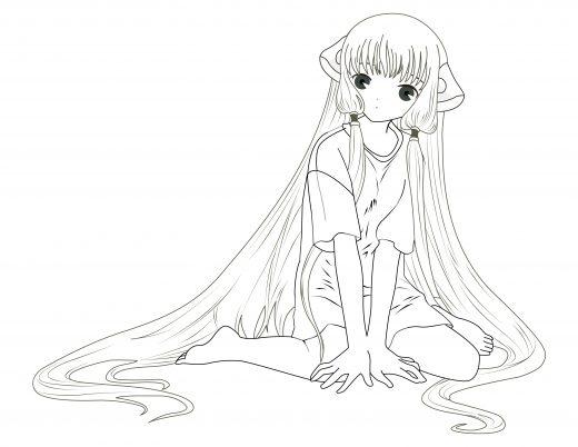 coloriage personnage fillette manga gratuit