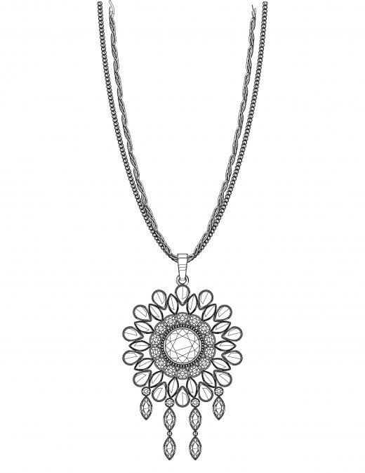 coloriage cadeau collier femme à imprimer