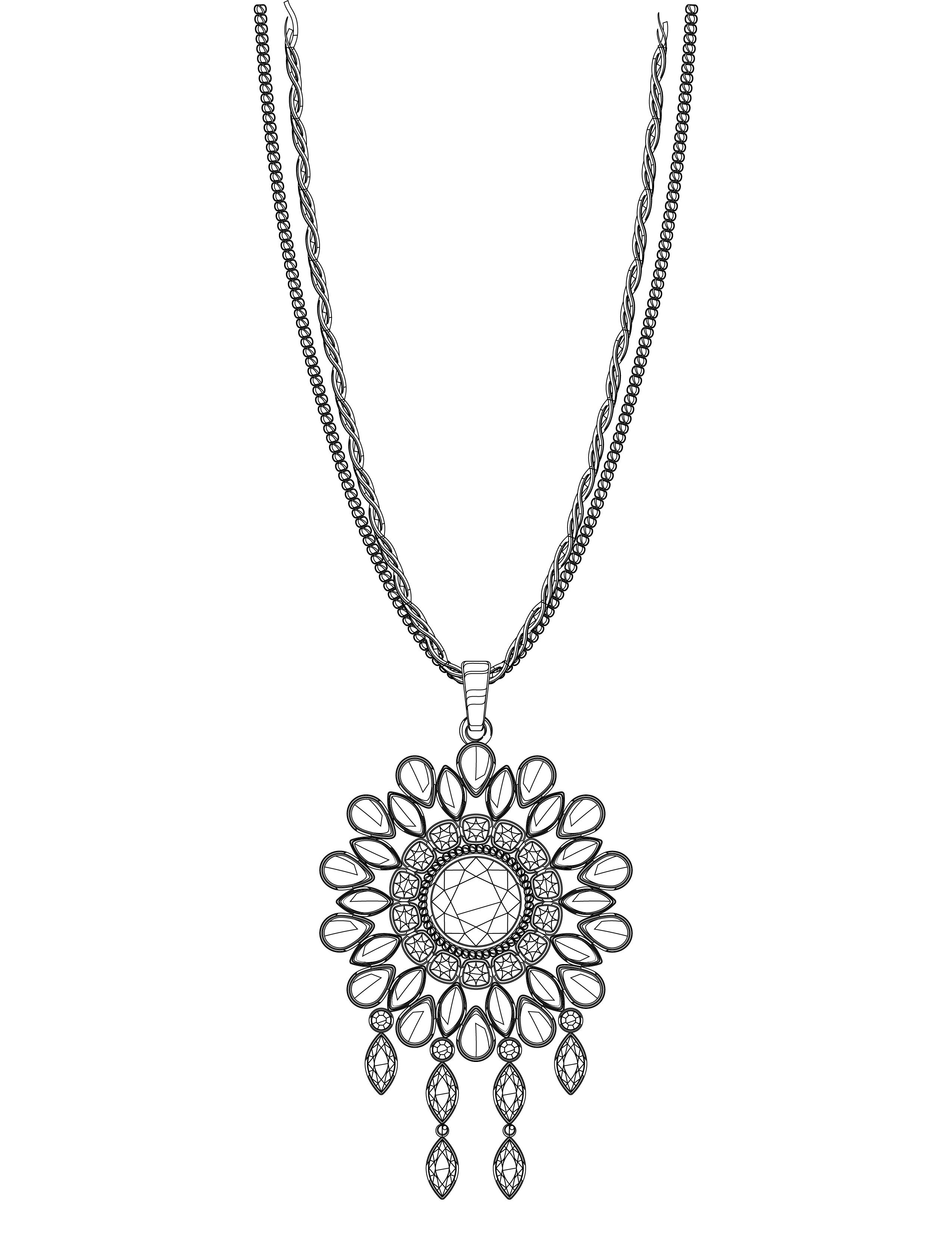 Coloriage cadeau collier femme imprimer - Dessin de soleil a imprimer ...