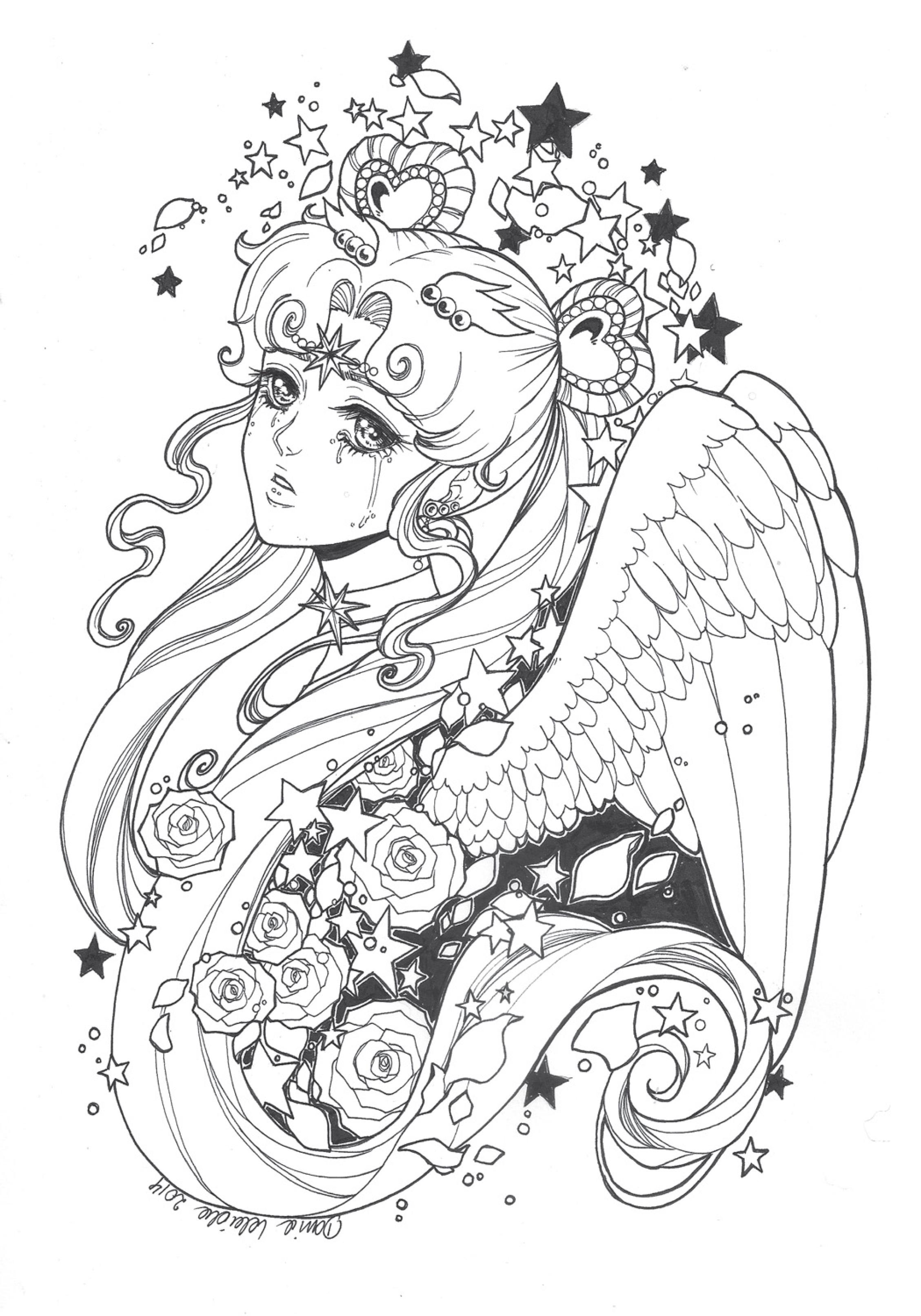 coloriage à imprimer Sailor Cosmo - Artherapie.ca
