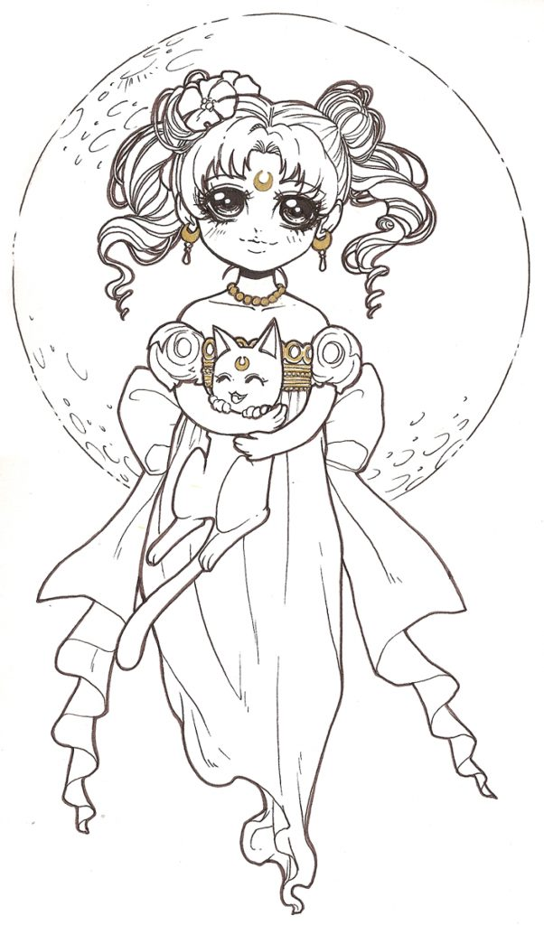 coloriage de Dar-Chan Sailor Moon serenity