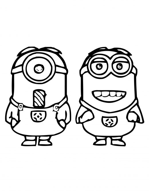 dessin à imprimer moving minion gratuit