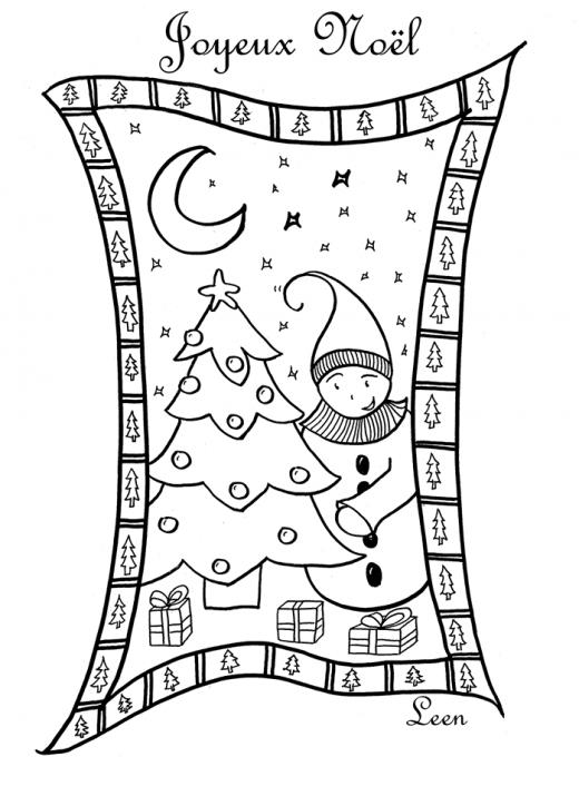 Dessin lutin de Noël par Leen Margot