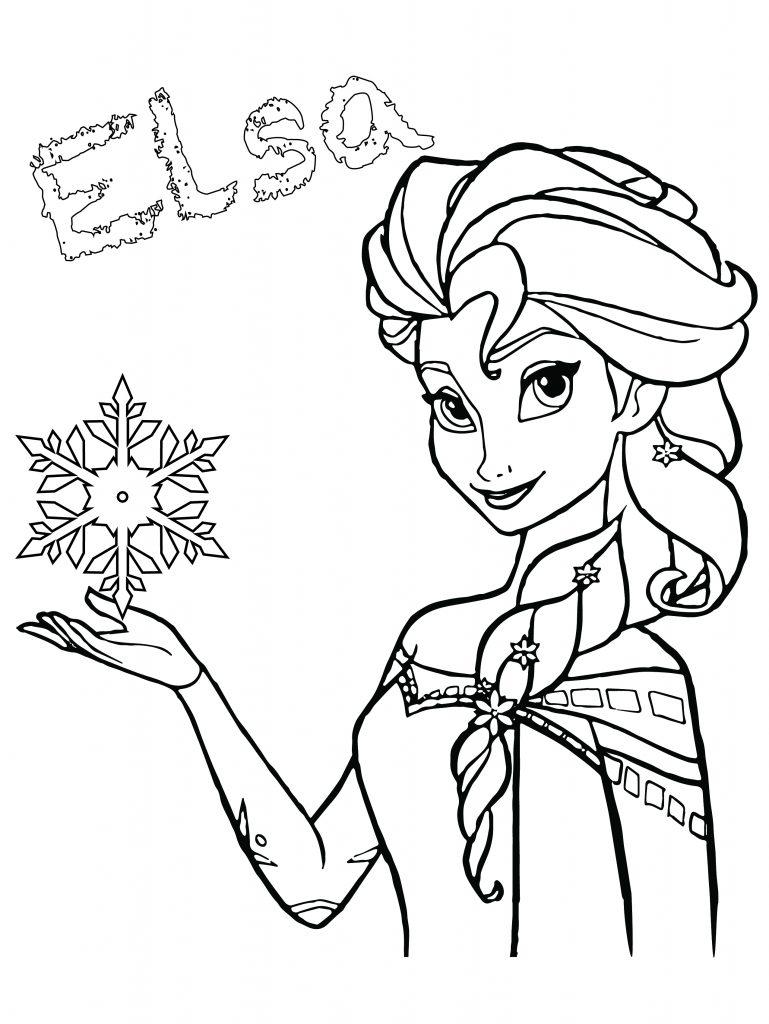 Elsa disney frozen coloriage de