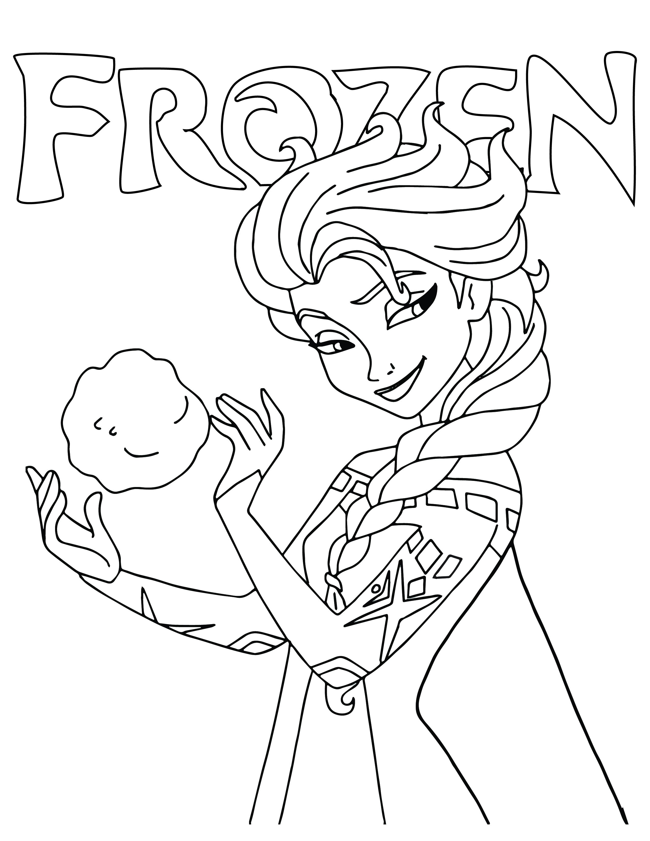 Princesse Elsa disney frozen dessin à imprimer - Artherapie.ca