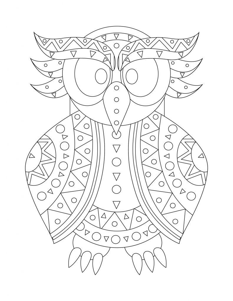 Chouette hiboux imprimer et colorier - Hiboux coloriage ...