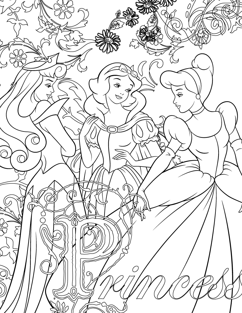 Coloriage disney de princesse imprimer - Coloriages princesse ...