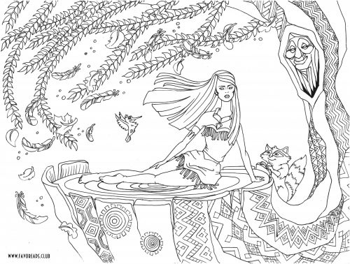 Coloriage de Disney princesse Pocahontas