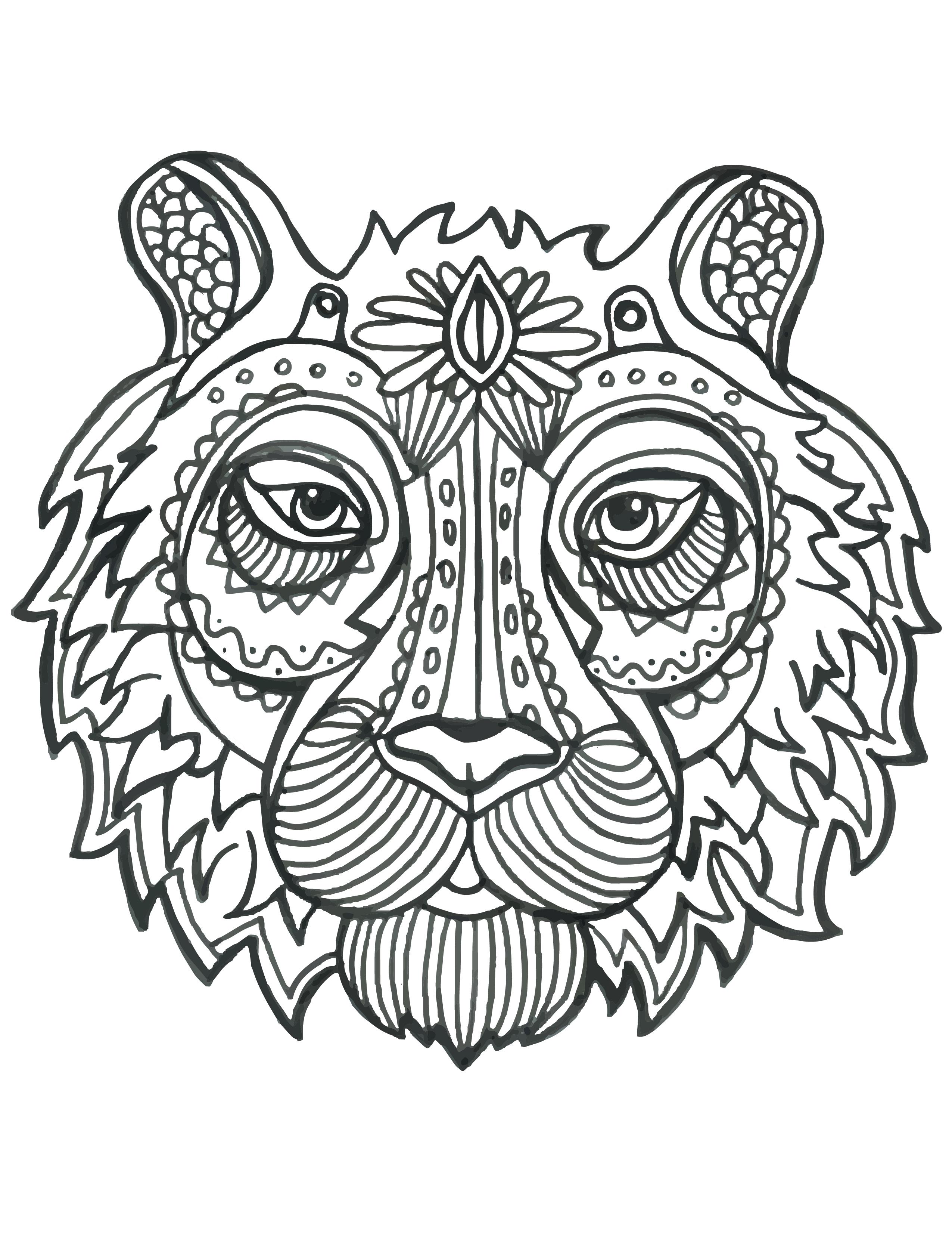 Inspiration tete animaux coloriage mandalas - Mandalas animaux ...
