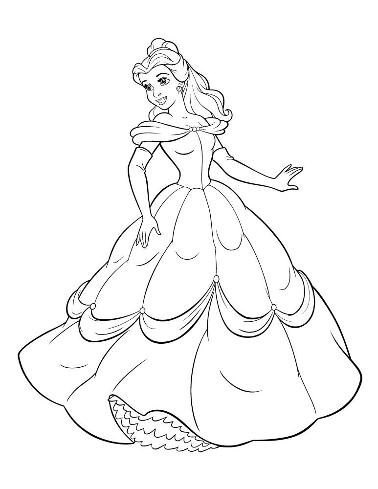 Film la belle et la bete 2017 coloriage - Coloriage princesse facile ...