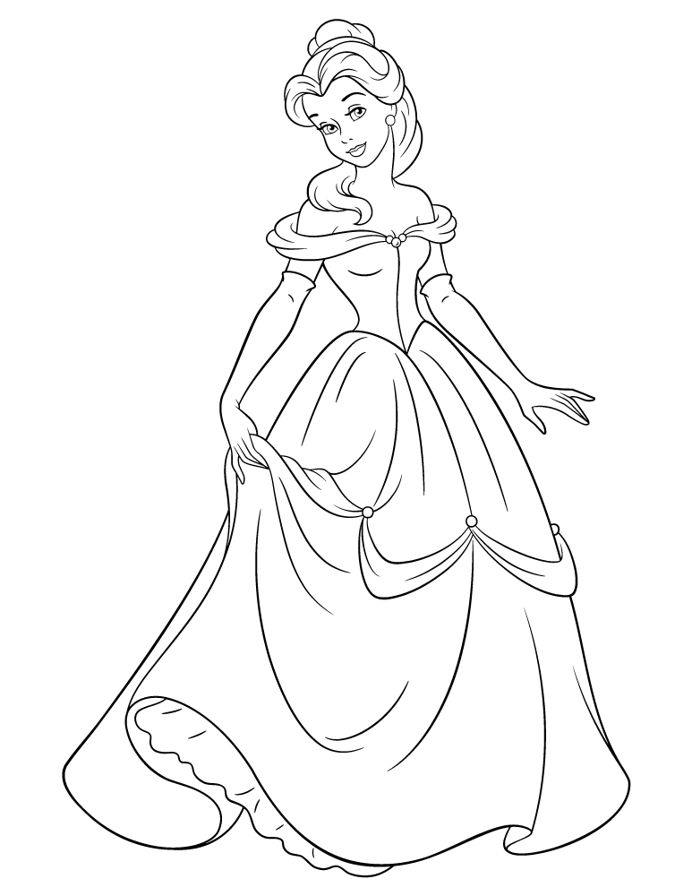 Coloriage disney princesse belle imprimer for Belle et beau