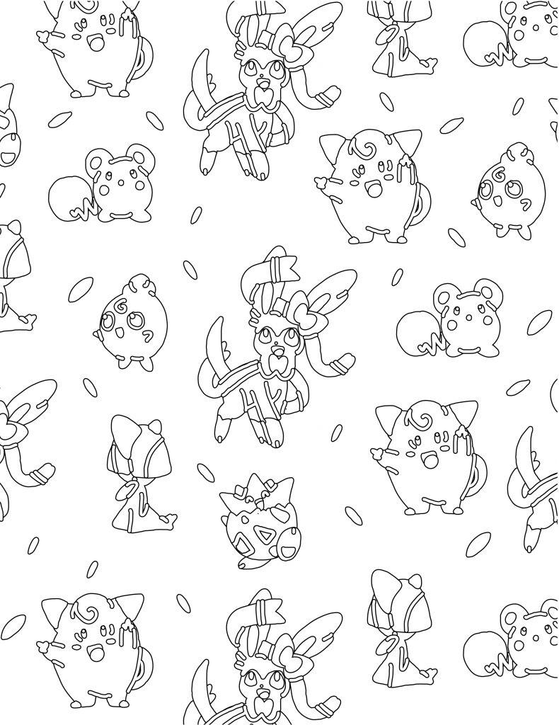 Coloriage pokemon Togepi fairy type - Artherapie.ca