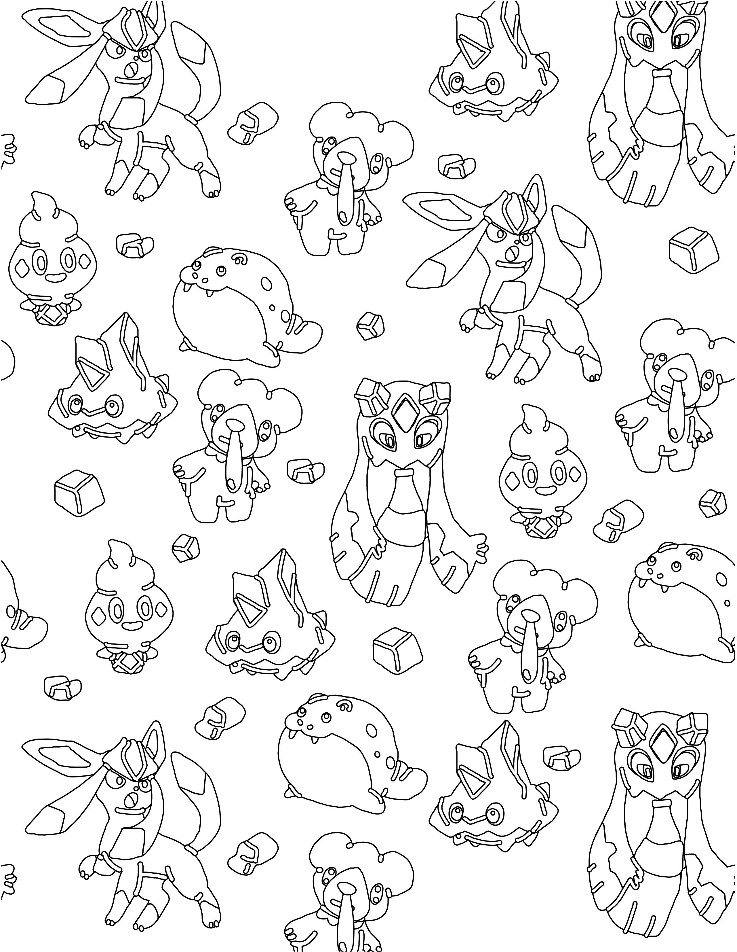 Pokemon glace imprimer et colorier - Imprimer des pokemon ...