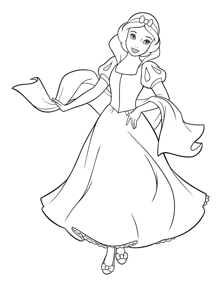 Blanche neige princesse disney imprimer - Coloriage princesse des neiges ...