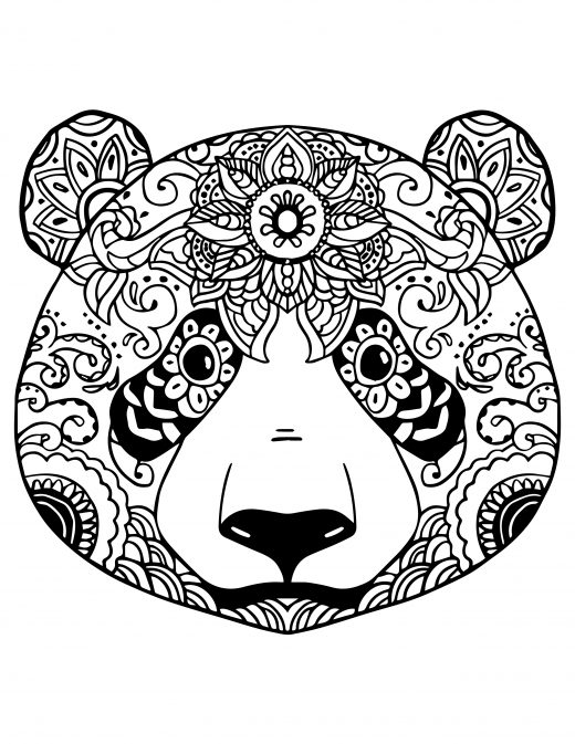 Coloriage gratuit adorable panda à colorier