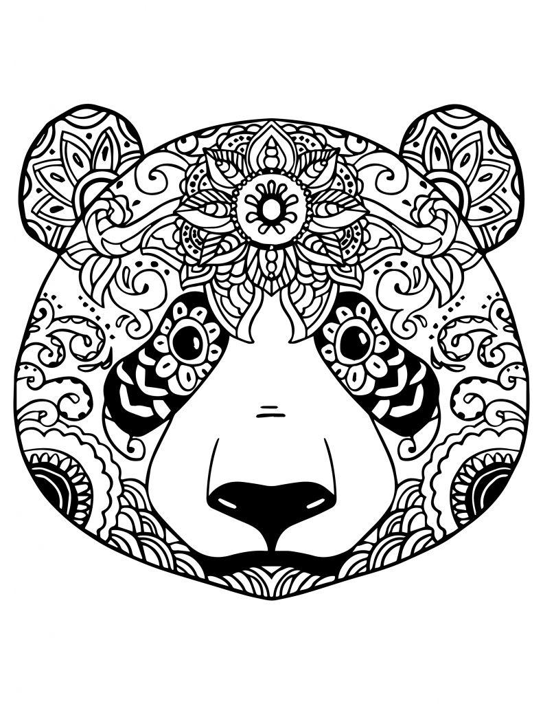 Coloriage Gratuit Adorable Panda à Colorier Artherapieca