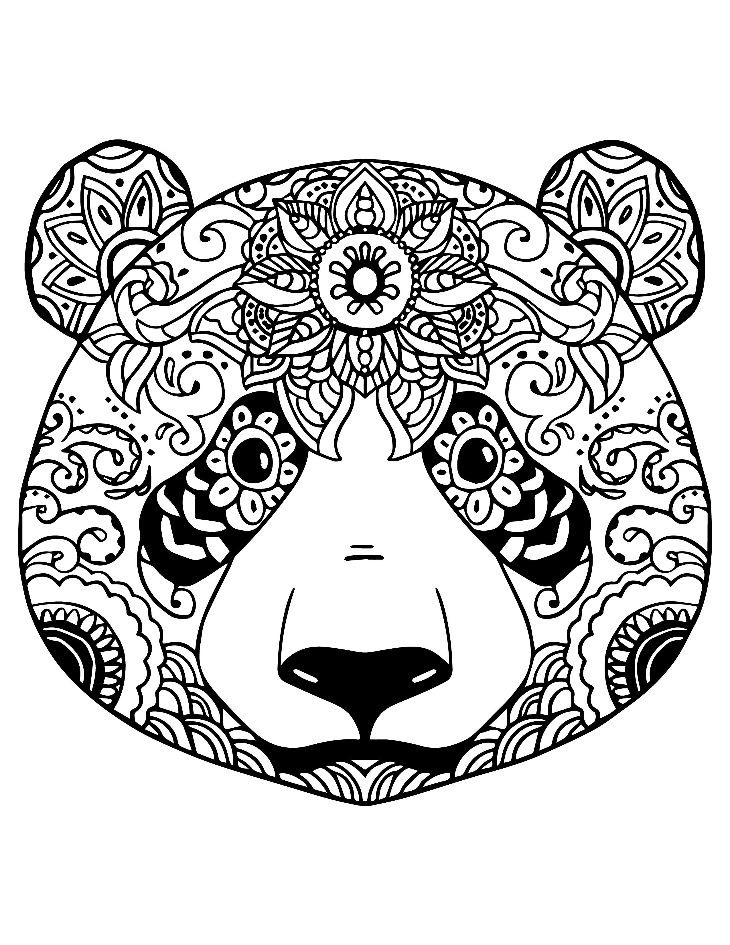 Dessin Panda Facile coloriage gratuit adorable panda colorier - dessin original facile