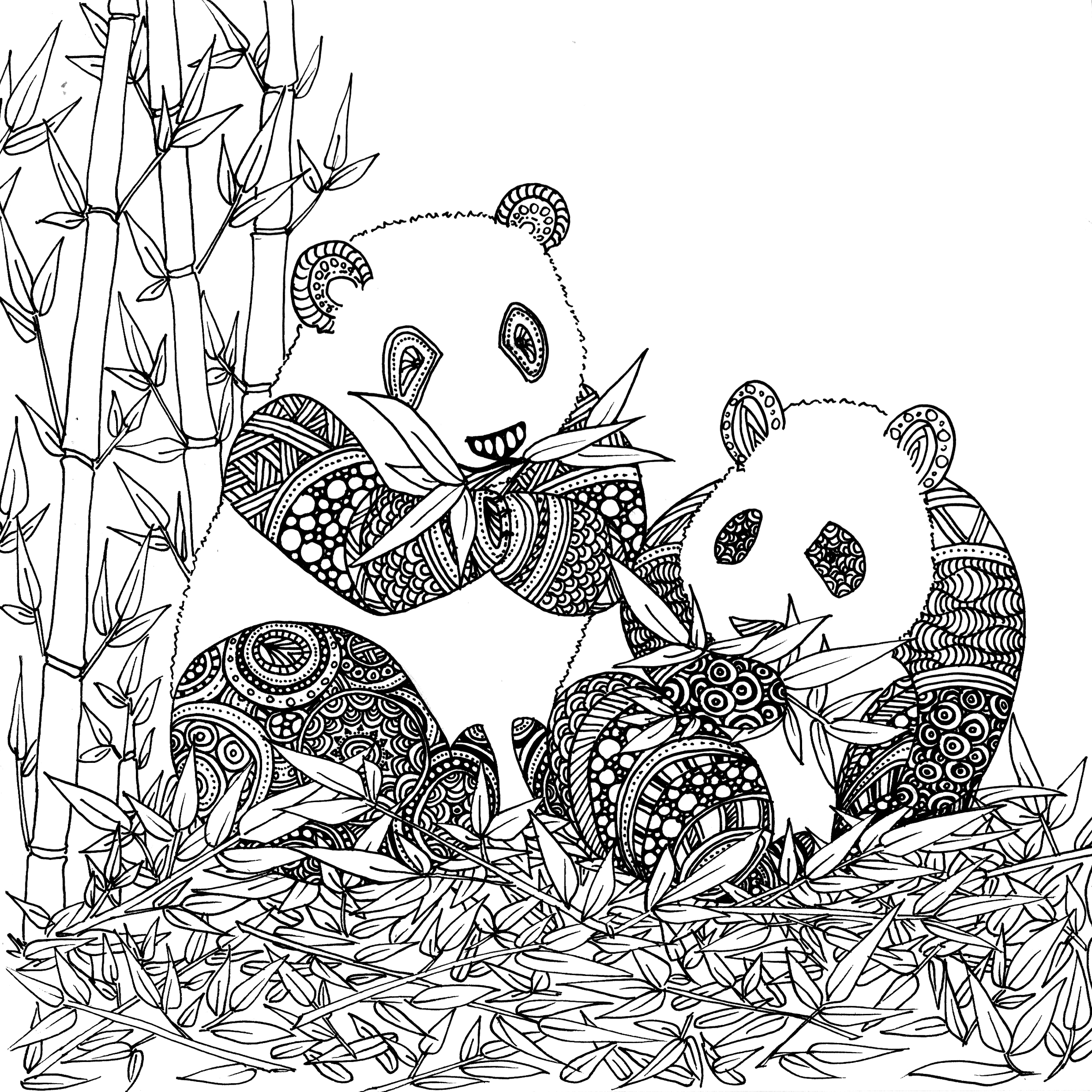 Coloriage de animaux panda imprimer par chocobo - Panda coloriage ...