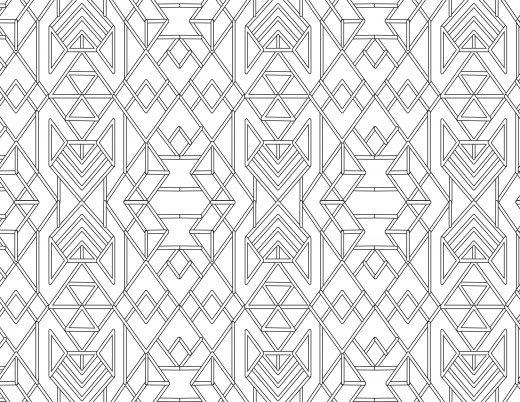 Dessin gratuit pour adulte pattern très difficile
