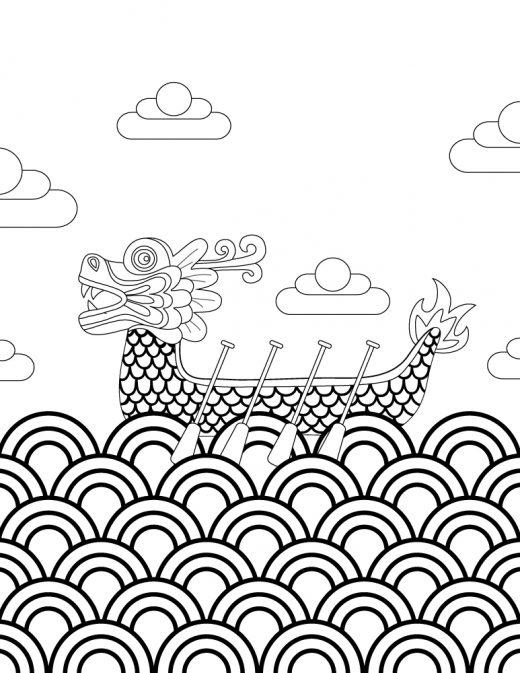 Image de bateau dragon boat canada à imprimer