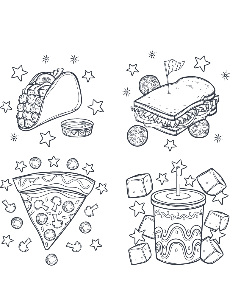 Dessins Commandes Fast Food