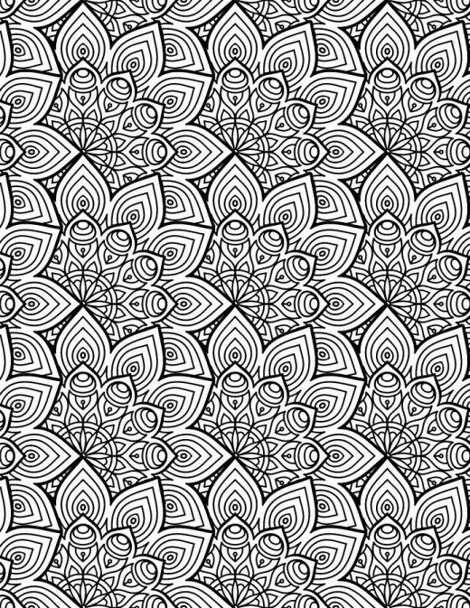 Mandala coloriage gratuit à imprimer