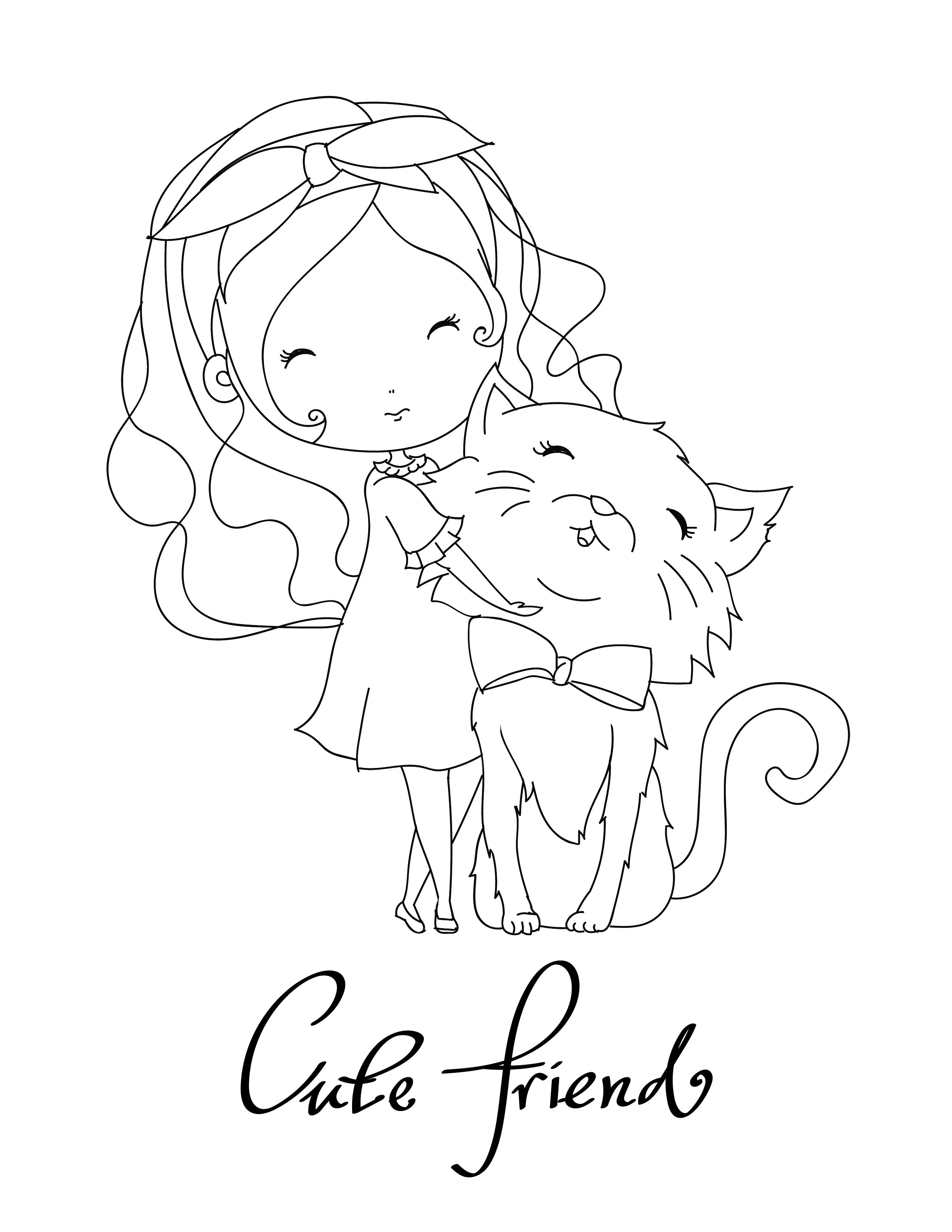 Mon meilleur ami le chat  imprimer et colorier