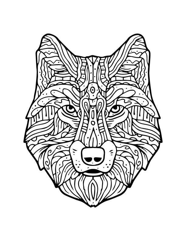 Célèbre Méchant loup à imprimer et colorier artherapie adulte - Artherapie.ca PJ18