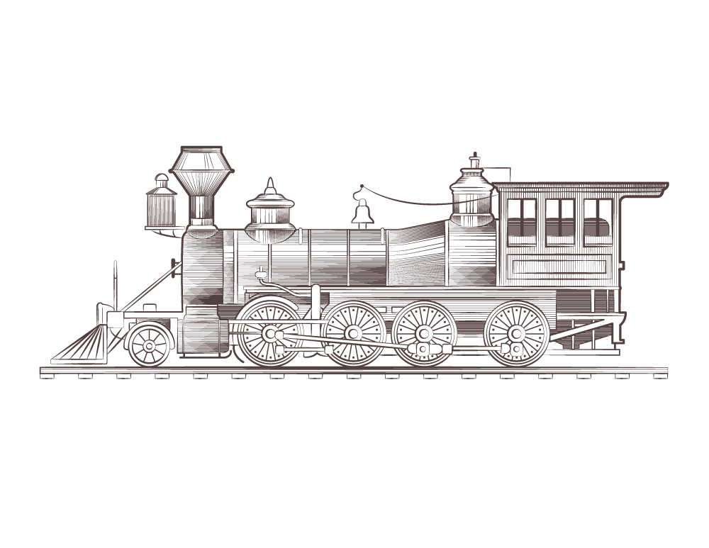 Train à imprimer et dessiner coloriage gratuit - Artherapie.ca